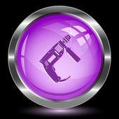 電気ドリル。インター ネット ボタン — ストックベクタ