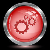 Gears. Internet button — Vector de stock