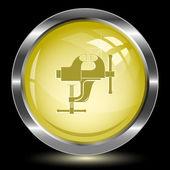 Clamp. Internet button — Stock Vector