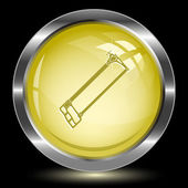 Hacksaw. Internet button — Vector de stock