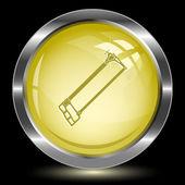 Hacksaw. Internet button — Stock Vector