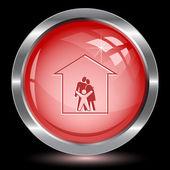 Family. Internet button — Stock Vector