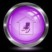 Home comfort. Internet button — Stock Vector