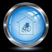 Nursing home. Internet button — Stock Vector
