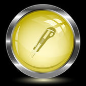 Knife. Internet button — Stock Vector