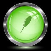 Awl. Internet button — Stock Vector
