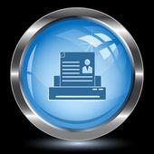 Printer. Internet button — Stock Vector