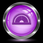Protractor. Internet button — Stock Vector