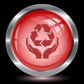 охрана природы. кнопка интернет — Cтоковый вектор