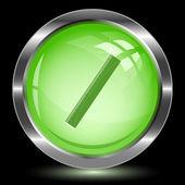 Ruler. Internet button — Stock Vector