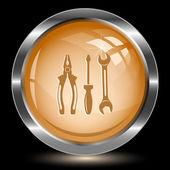 Tools. Internet button — Stock Vector