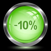 -10 percent. Internet button — Stock Vector
