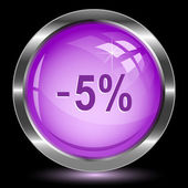 - 5 percent. Internet button — Stock Vector