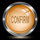 Confirm. Internet button — Vector de stock