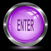 Enter. Internet button. Raster illustration. — Stock Vector