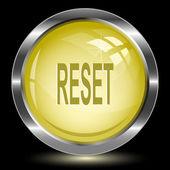Reset. Internet button. Vector illustration. — Stock Vector