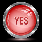 Yes. Button — Stock Vector