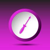Screwdriver. Button — Stock Vector