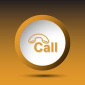 Hotline. Button — Stock Vector