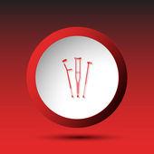 Crutches. Button — Stock Vector
