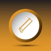 Hacksaw. Button — Stock Vector