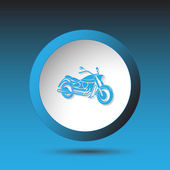 Motorcycle. Button — Stock Vector