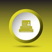 Printer. Button — Stock Vector