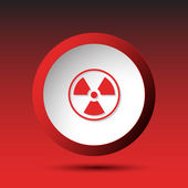 Radiation symbol. Button — 图库矢量图片