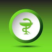 Simbolo di Pharma. pulsante — Vettoriale Stock