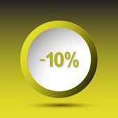 -10 percent. Button — Stock Vector