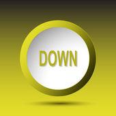 Verso il basso. pulsante — Vettoriale Stock