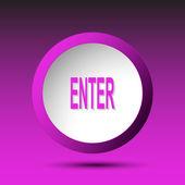 Enter. Button — Stock Vector