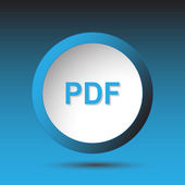 Pdf. Button — Stock Vector