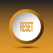 Reset. Button — Stock Vector