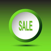 Sale. Button — Stock Vector