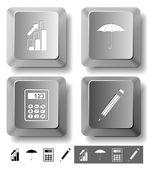 Conjunto de iconos de negocios. — Vector de stock