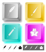 Education icon set. — Stock Vector