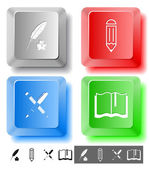 Education icon set — Vecteur