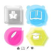 Education icon set — Vector de stock