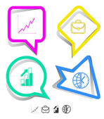 Business icon set. — Stock Vector