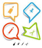 Conjunto de iconos de educación. — Vector de stock