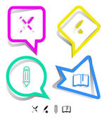 Education icon set. — Vettoriale Stock