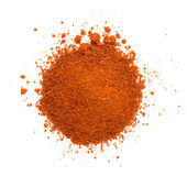 Heap ground paprika isolated on white background — Stock Photo