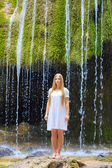 Under the waterfall — Stock Photo