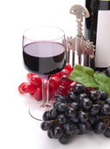A glass of wonderful and delicious red semisweet wine — Stockfoto