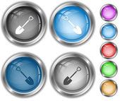 Spade. Internet buttons. — Stock Vector