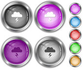 Storm. Internet buttons. — Stock Vector