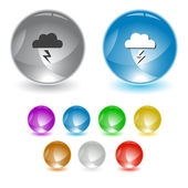 Storm. Vector interface element. — Stock Vector