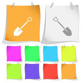 Spade. Vector note papers. — Stock Vector