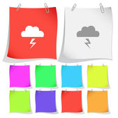 Storm. Vector note papers. — Stock Vector